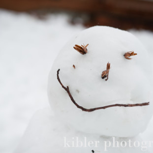 kids made the coolest snowman today