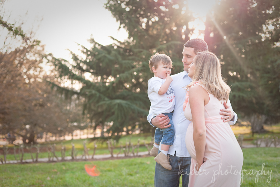 family portrait in beautiful golden light photo